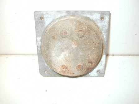Rowe R-92 Jukebox Metal Cabinet Caster and Metal Mounting Plate (Item #75) Back Image