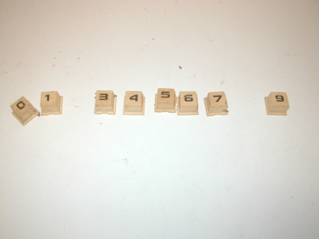 Rowe R-92 Jukebox Selector Buttons Lot (Missing #2 and #8) (Item #72) $17.99)